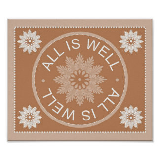 3 Word Quotes ~All Is Well ~Inspirational Print
