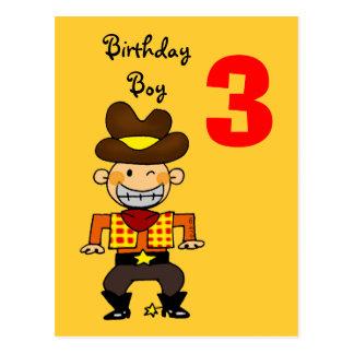 3 year old birthday boy post cards