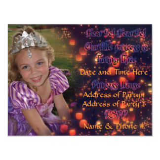 "3 Year Old Princess Birthday Invites with Back 4.25"" X 5.5"" Invitation Card"