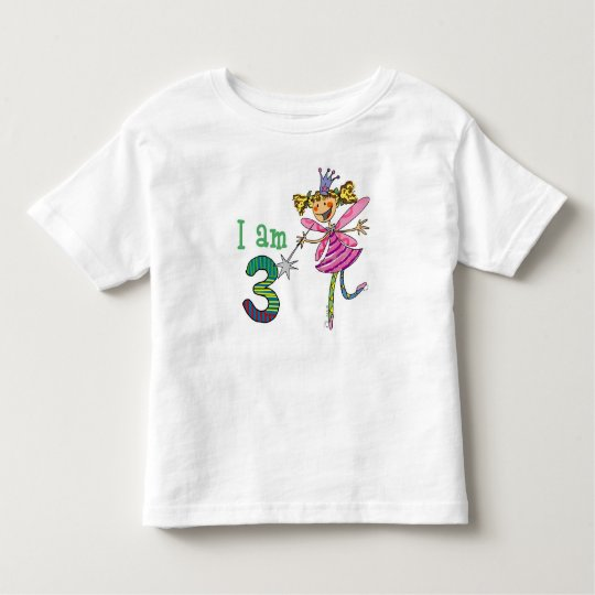 3 year old princess fairy toddler t-shirt