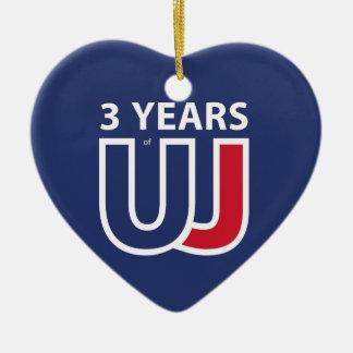 3 Years Of Union J ack Ceramic Ornament
