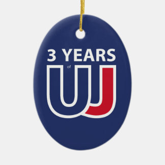 3 Years Of Union J ack Ceramic Ornament