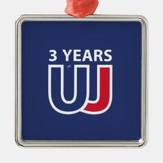 3 Years Of Union J ack Metal Ornament