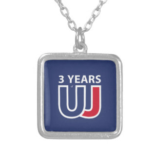 3 Years Of Union J ack Silver Plated Necklace