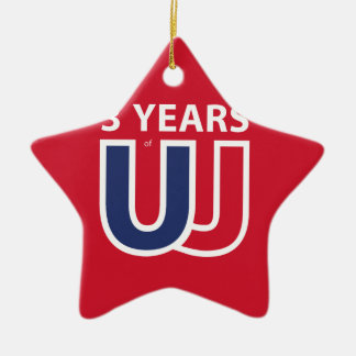 3 Years of Union Jack Ceramic Ornament