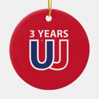 3 Years of Union Jack Ceramic Ornament