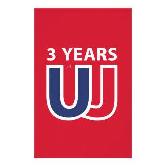 3 Years of Union Jack Customized Stationery