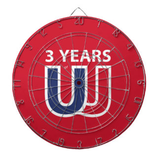 3 Years of Union Jack Dartboard