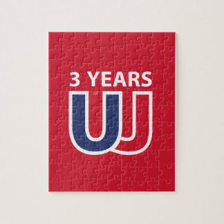 3 Years of Union Jack Jigsaw Puzzle
