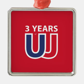 3 Years of Union Jack Metal Ornament