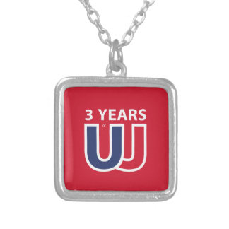 3 Years of Union Jack Silver Plated Necklace