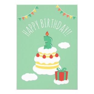 3 Years Old Birthday Card