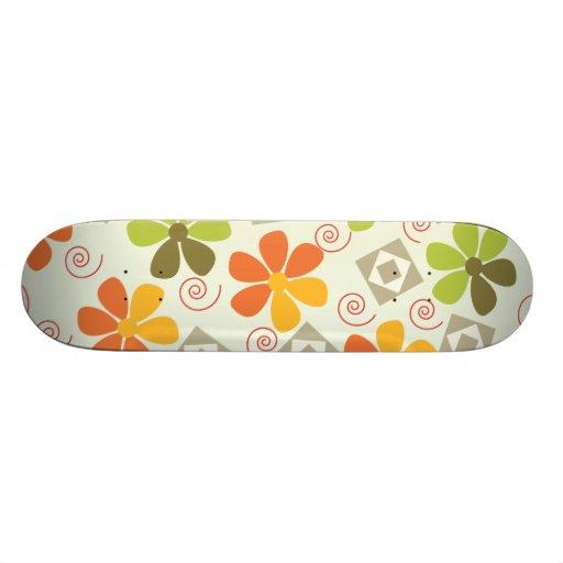 3ai flowers retro skate deck
