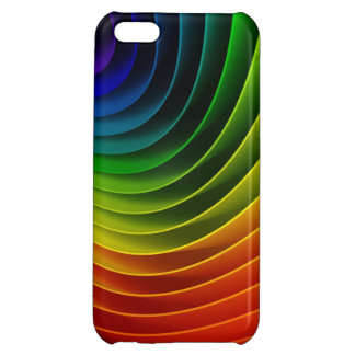 3D Abstract Rainbow Cover For iPhone 5C