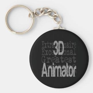 3D Animator Extraordinaire Keychain