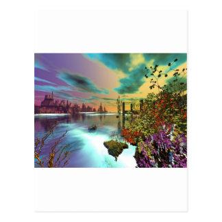 3d art endless summer postcard