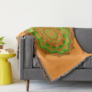 3D Art Mandala Throw Blanket