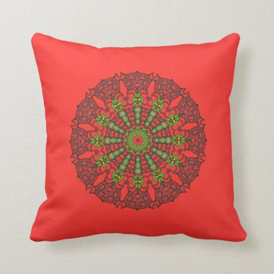 3D Art Mandala Throw Pillow