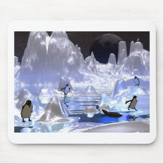 3d art penguin holiday mouse pad