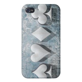 """3D Artwork """"Poker Suits"""" iPhone 4/4S Case"""