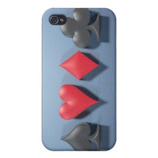 """3D Artwork """"Poker Suits"""" iPhone 4 Case"""