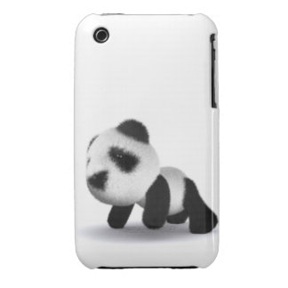 3d Baby Panda Crawls iPhone 3 Cases