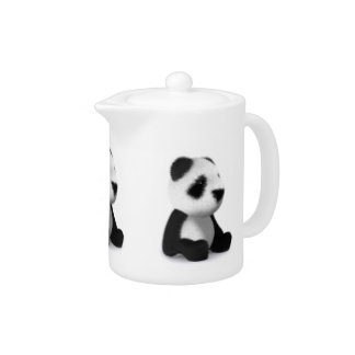 3d Baby Panda Sitting