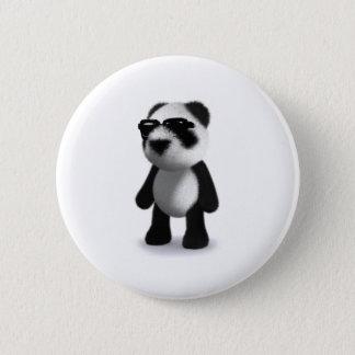 3d Baby Panda Sunglasses 2 Inch Round Button