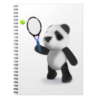 3d Baby Panda Tennis Notebook