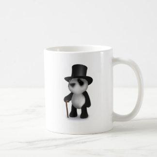 3d Baby Panda Top Hat Basic White Mug