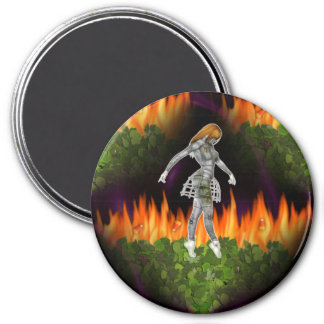3D Biomechannequin Seamless Fire & Candycorn Magnet