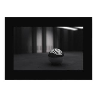"""3d_black_ball-1680x1050 5"""" x 7"""" invitation card"""