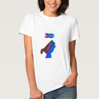 3D Blue T Shirt