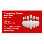 3D Bowling Pins (on Red BG) Business Card Template