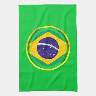 3D Brazil flag Kitchen Towels