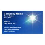 3D Bright Star Against Evening Sky Business Card Templates
