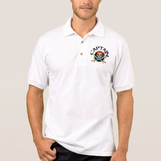 3D Captain Skull and Crossed Swords Polo Shirt