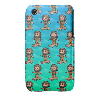 3d Caveman Skateboarding Case-Mate iPhone 3 Cases
