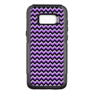 3D Chevron in Purples and Black OtterBox Commuter Samsung Galaxy S8+ Case