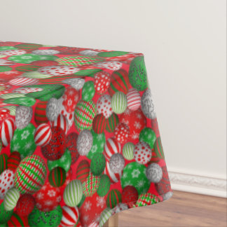 3D Christmas Balls Tablecloth