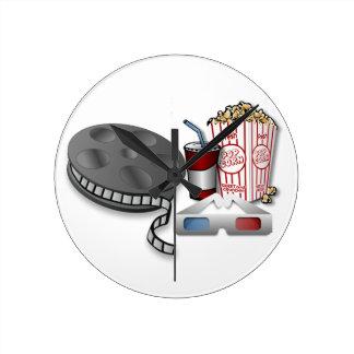 3D Cinema Round Clock