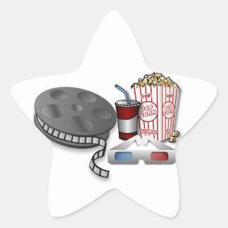 3D Cinema Star Sticker