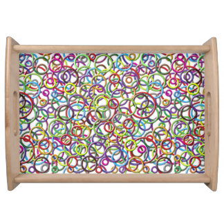 3D Circles on Custom Background Serving Tray