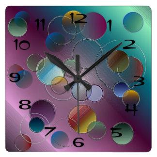 3D Circles Wall Clock