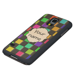 3d colorful squares pattern maple galaxy s5 slim case