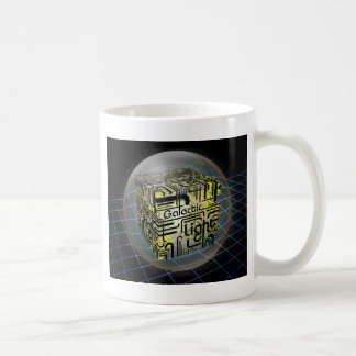 3D Cube Galactic Light Coffee Mug