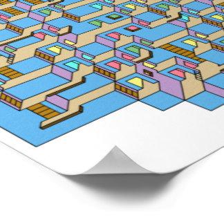 3d Cube Maze Poster