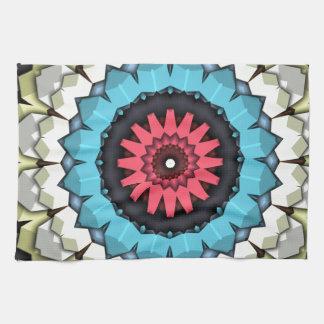 3D Cubes Mandala Towel