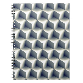 3D Cubes Pattern Notebook