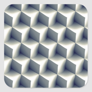 3D Cubes Pattern Square Sticker